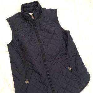 Vanheusen quilted vest. Dark blue. EUC!